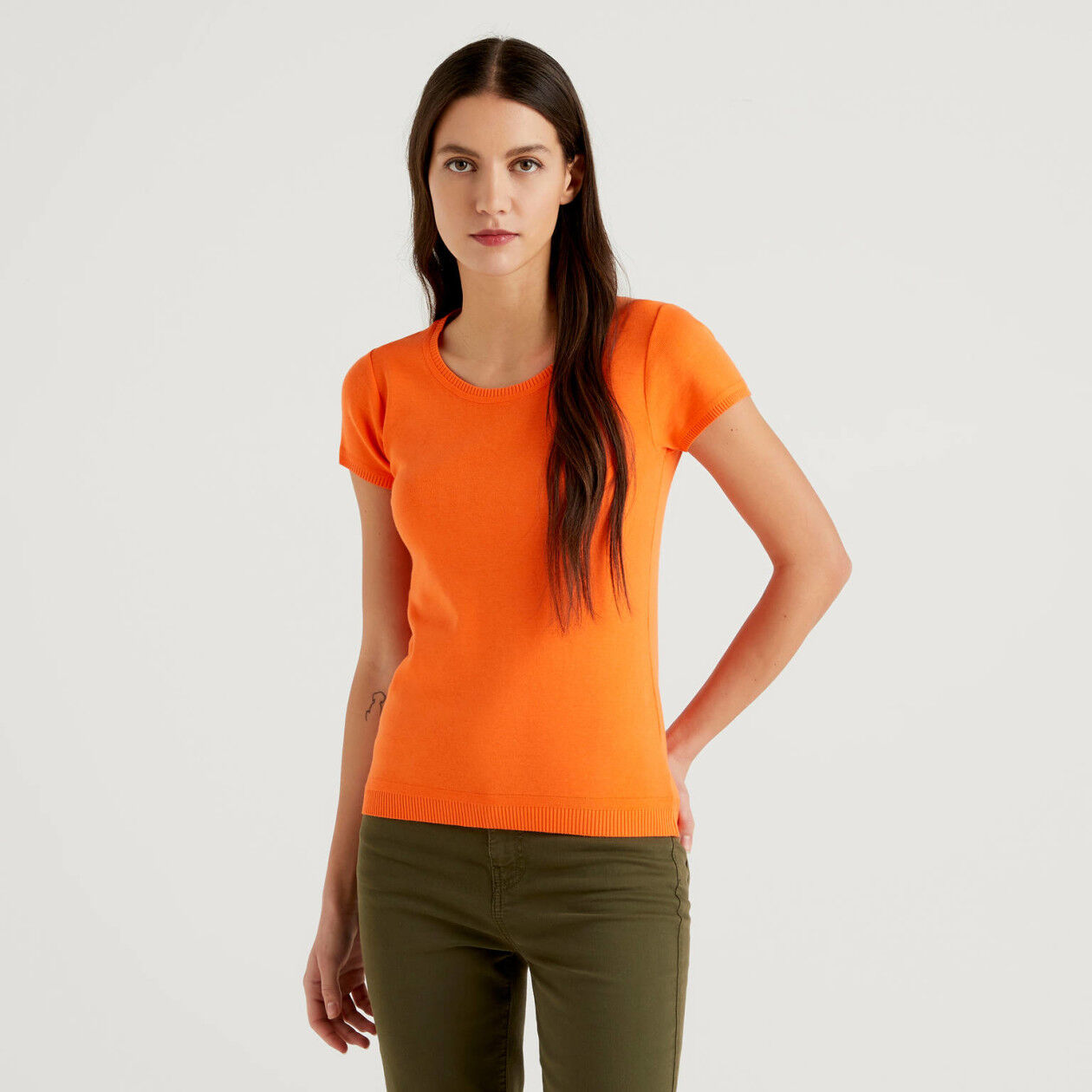 Jersey de manga corta de algodón