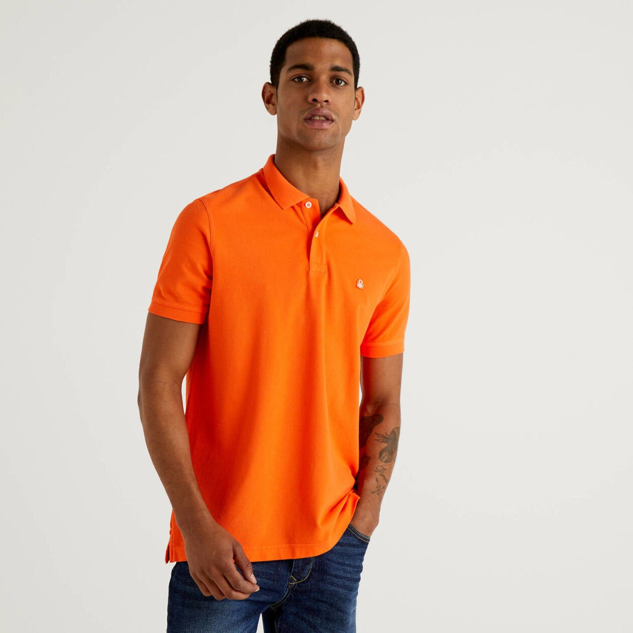 Polo regular fit naranja