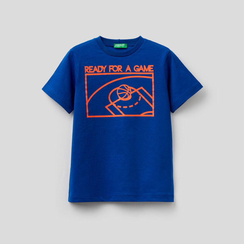 Camiseta de algodón puro con estampado