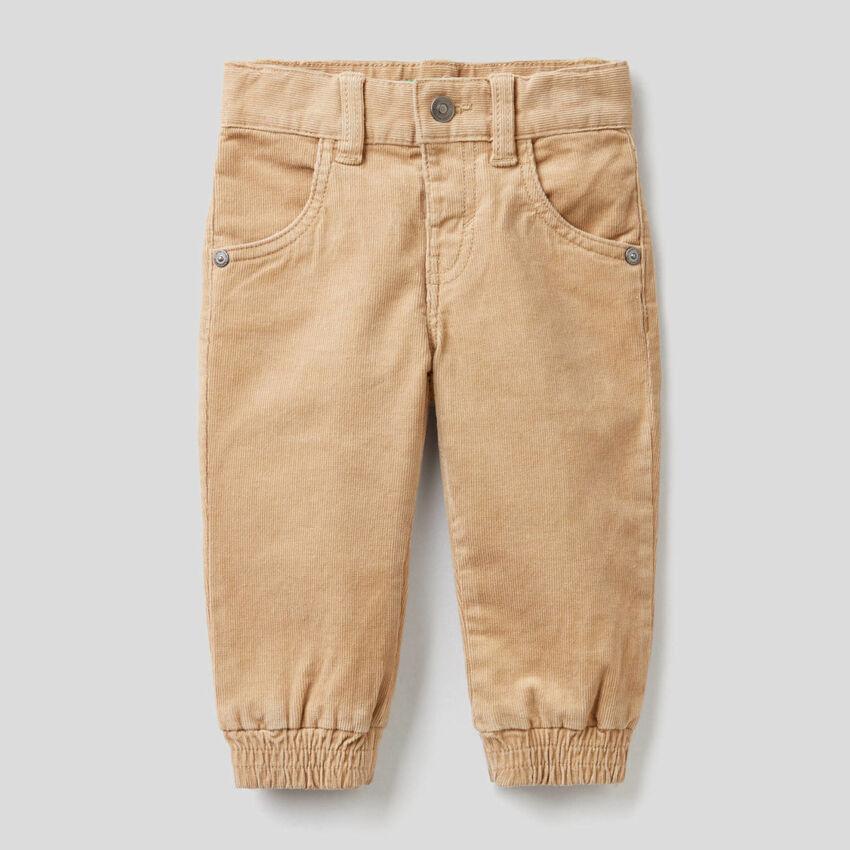 Pantalón de pana de algodón elástico