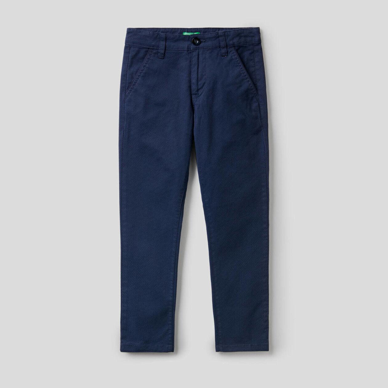 Pantalón de algodón elástico estampado