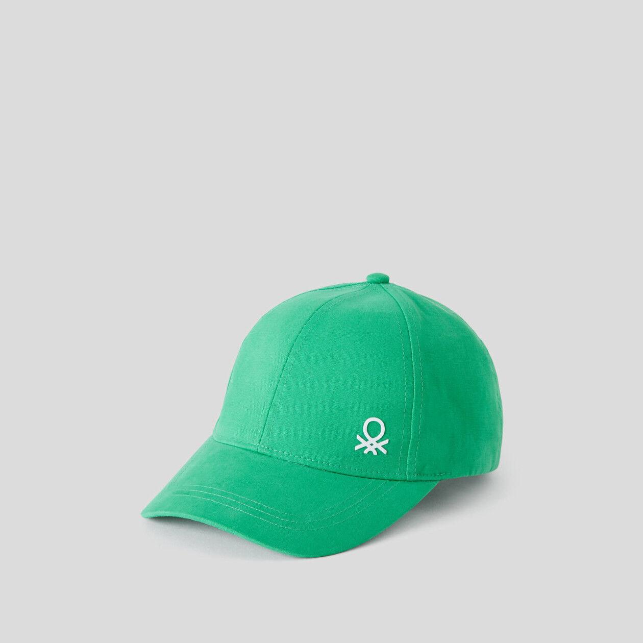 Gorra de algodón con visera