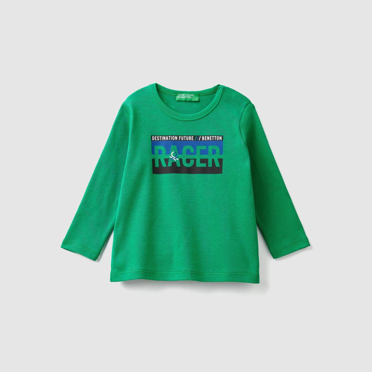 Camiseta acanalada con estampado