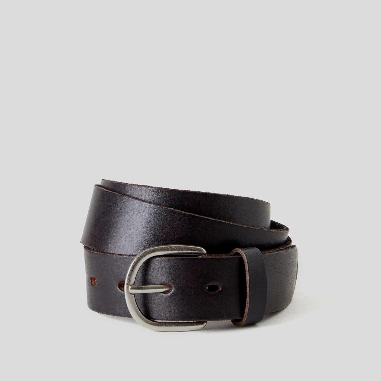 Cinturón de piel auténtica