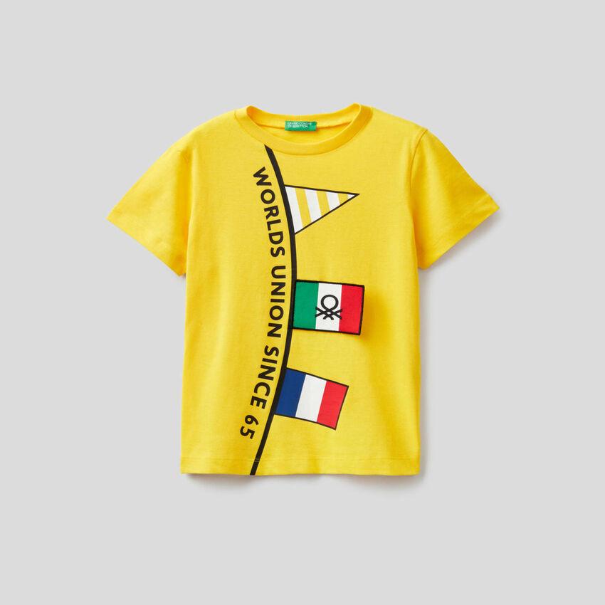 Camiseta de algodón de manga corta