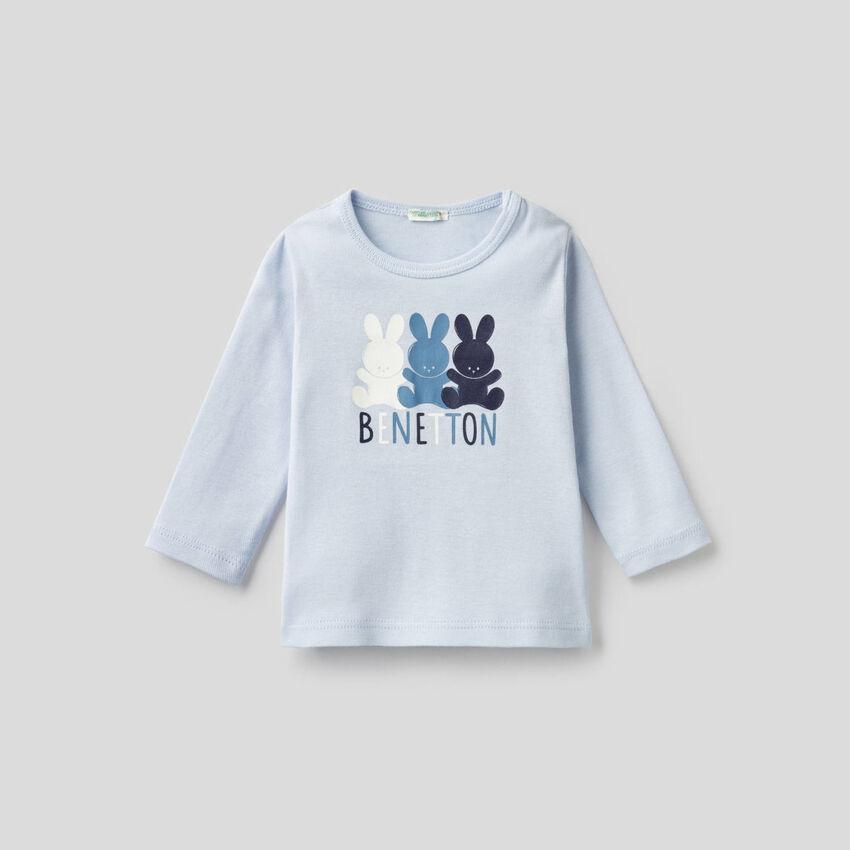 Camiseta de manga larga de 100 % algodón orgánico