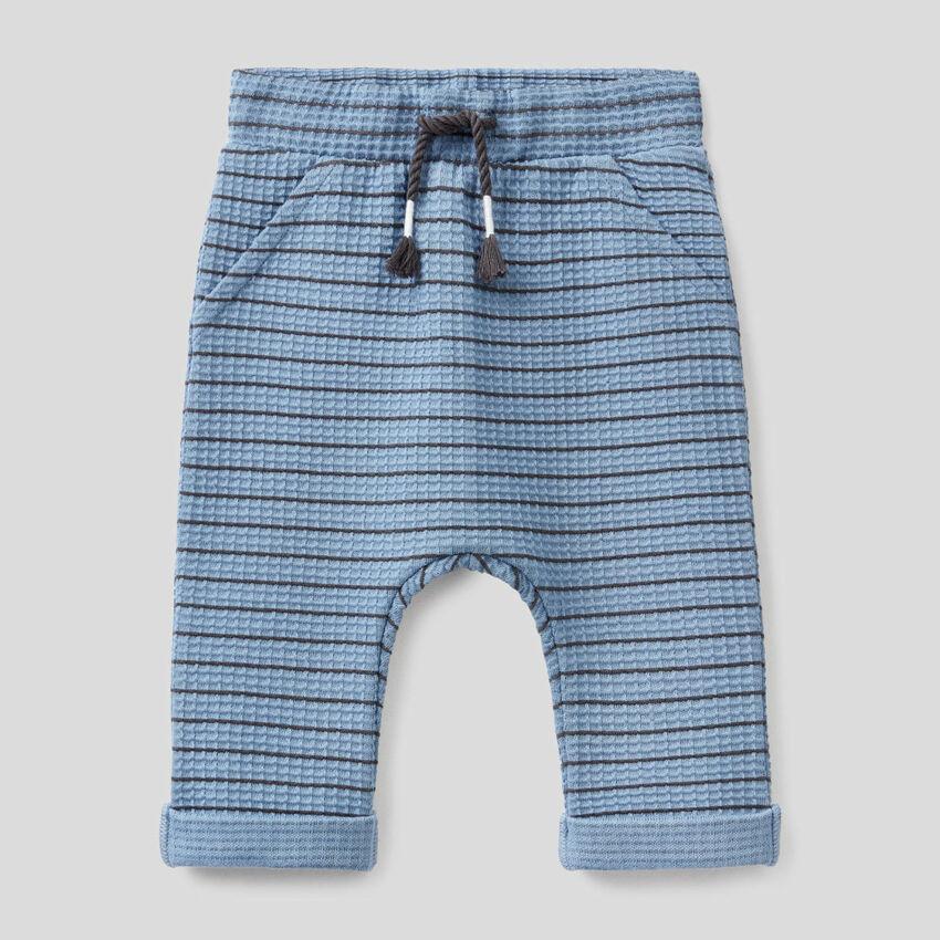 Pantalón de rayas de algodón orgánico