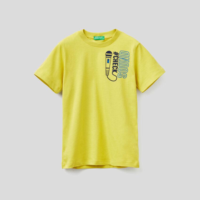 Camiseta de manga corta de algodón orgánico