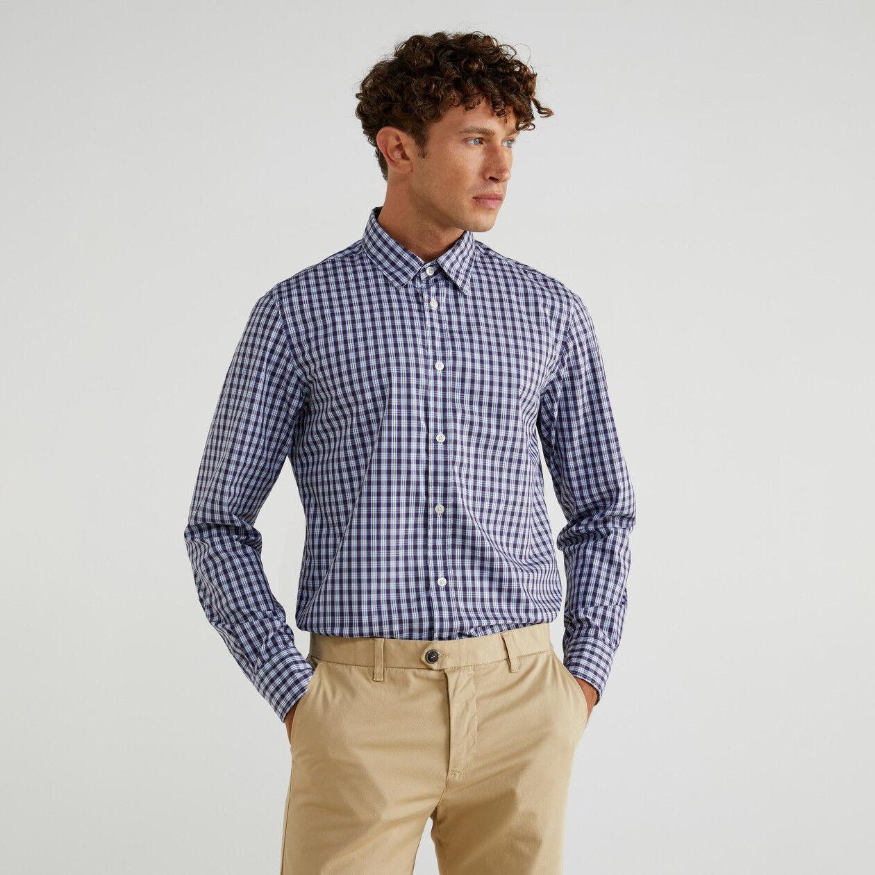 Camisa de algodón teñido en hilo