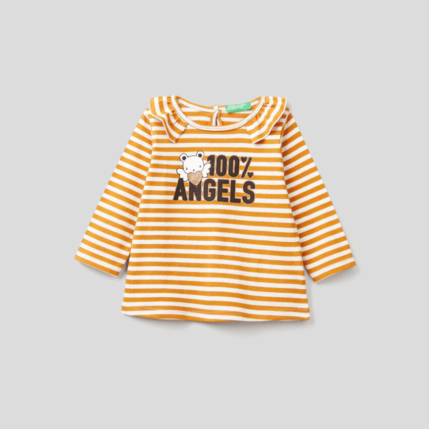 Camiseta de rayas de algodón orgánico
