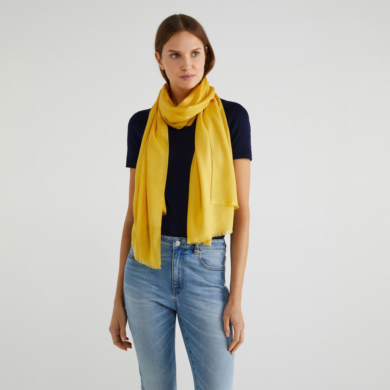 Bufanda de viscosa y lana