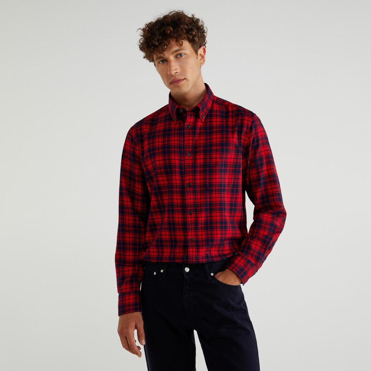 Camisa de franela de cuadros