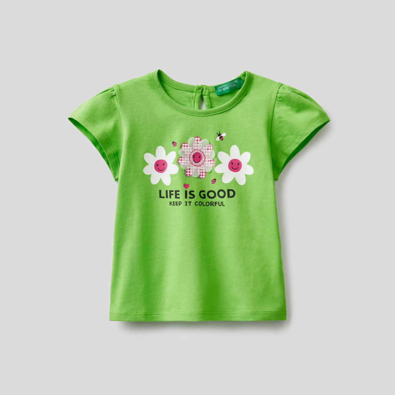 Camiseta de algodón con estampado