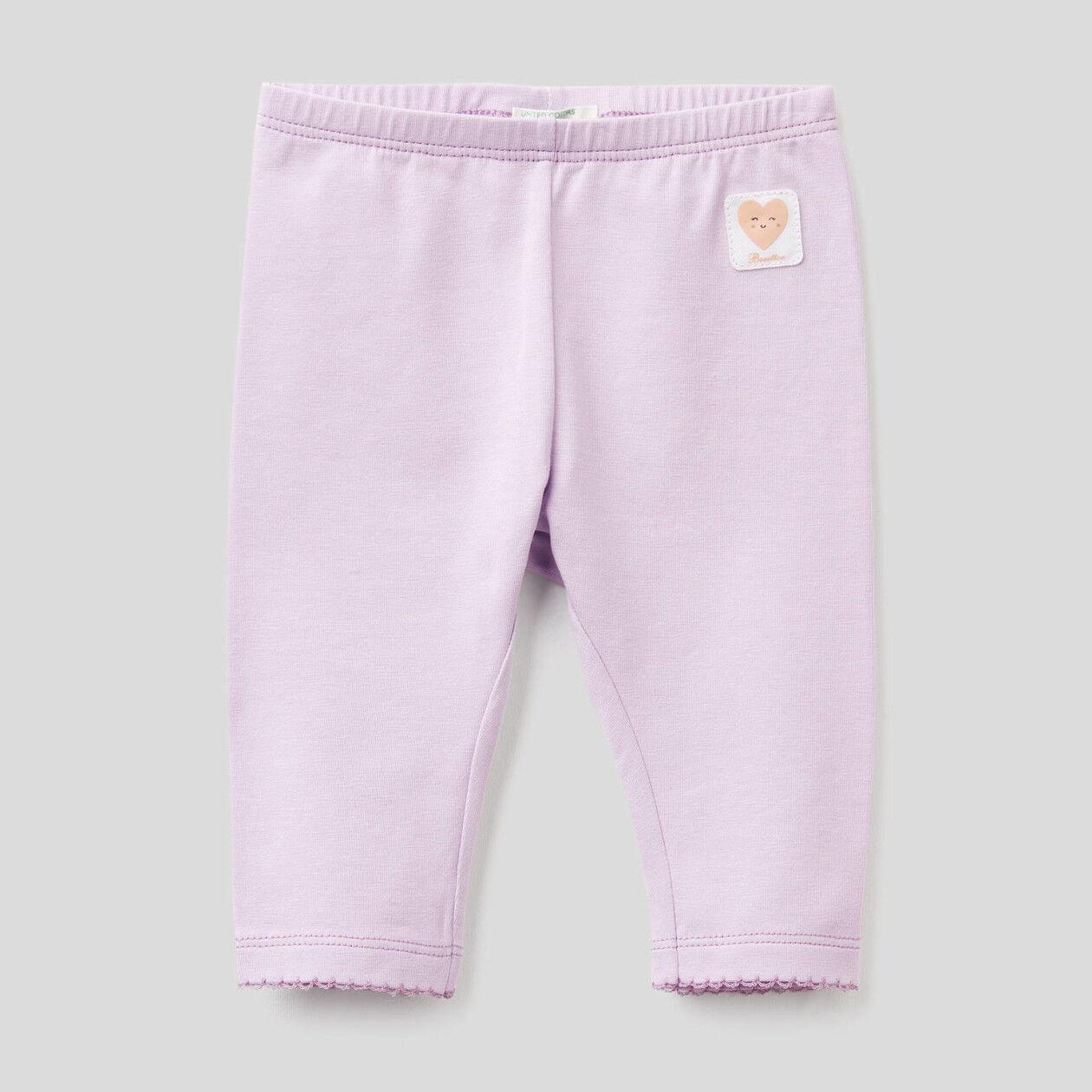 Leggings de algodón elástico