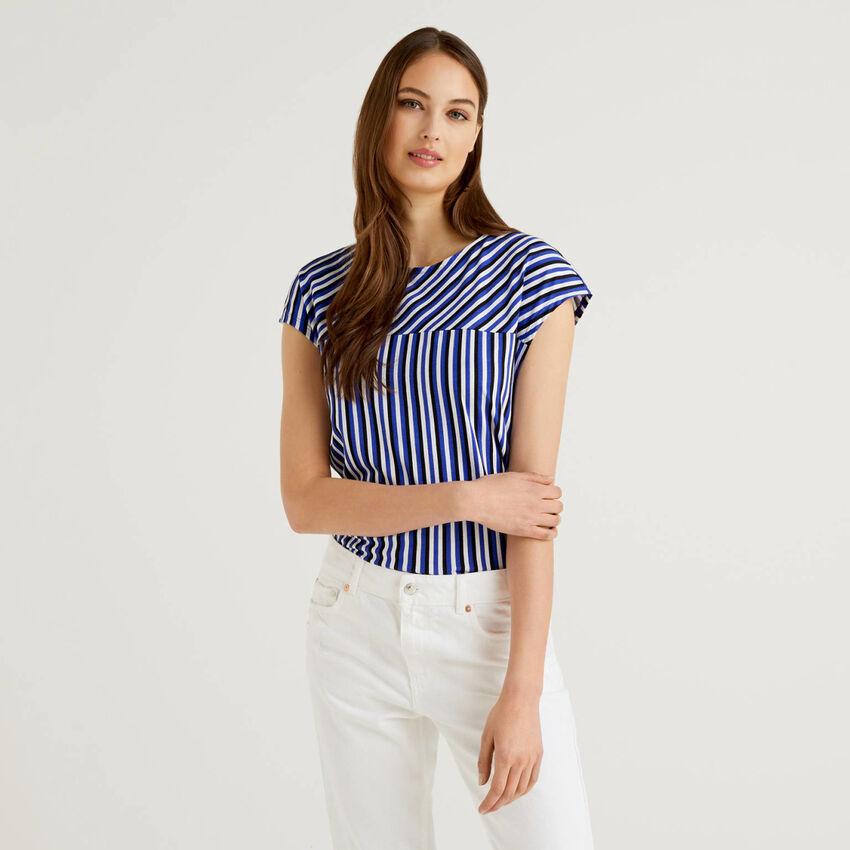 Camiseta de rayas de 100% algodón