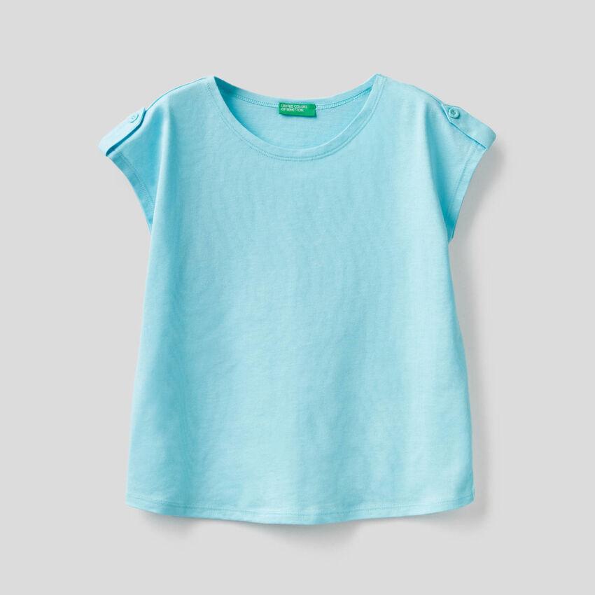 Camiseta lisa de 100% algodón