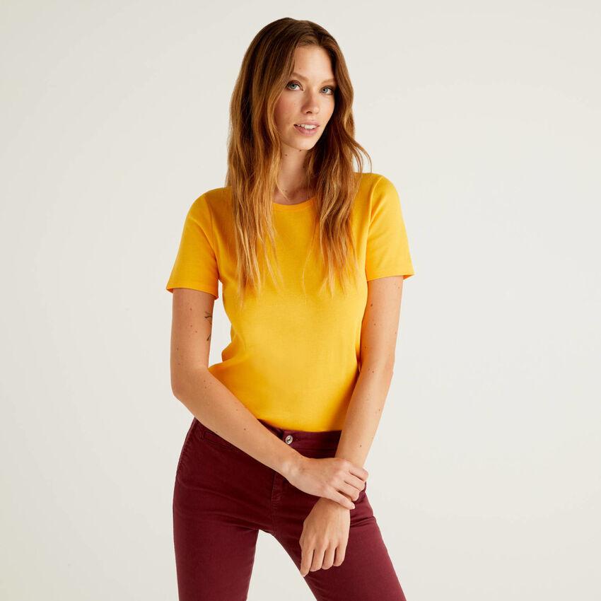 Camiseta personalizable de algodón de fibra larga