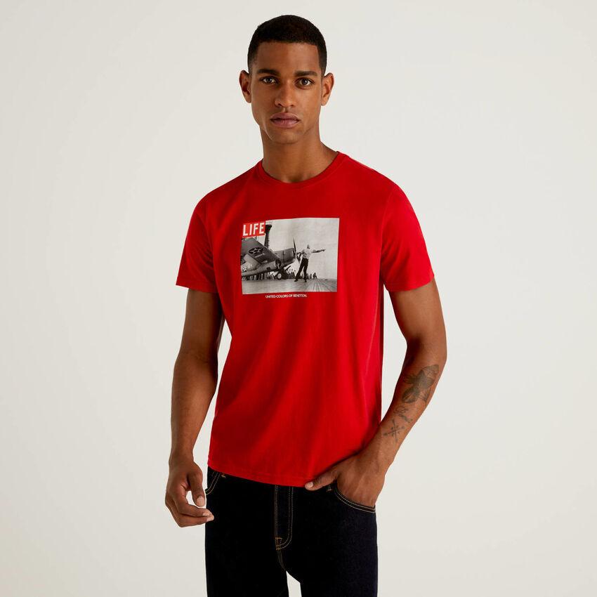 Camiseta Life de 100 % algodón orgánico