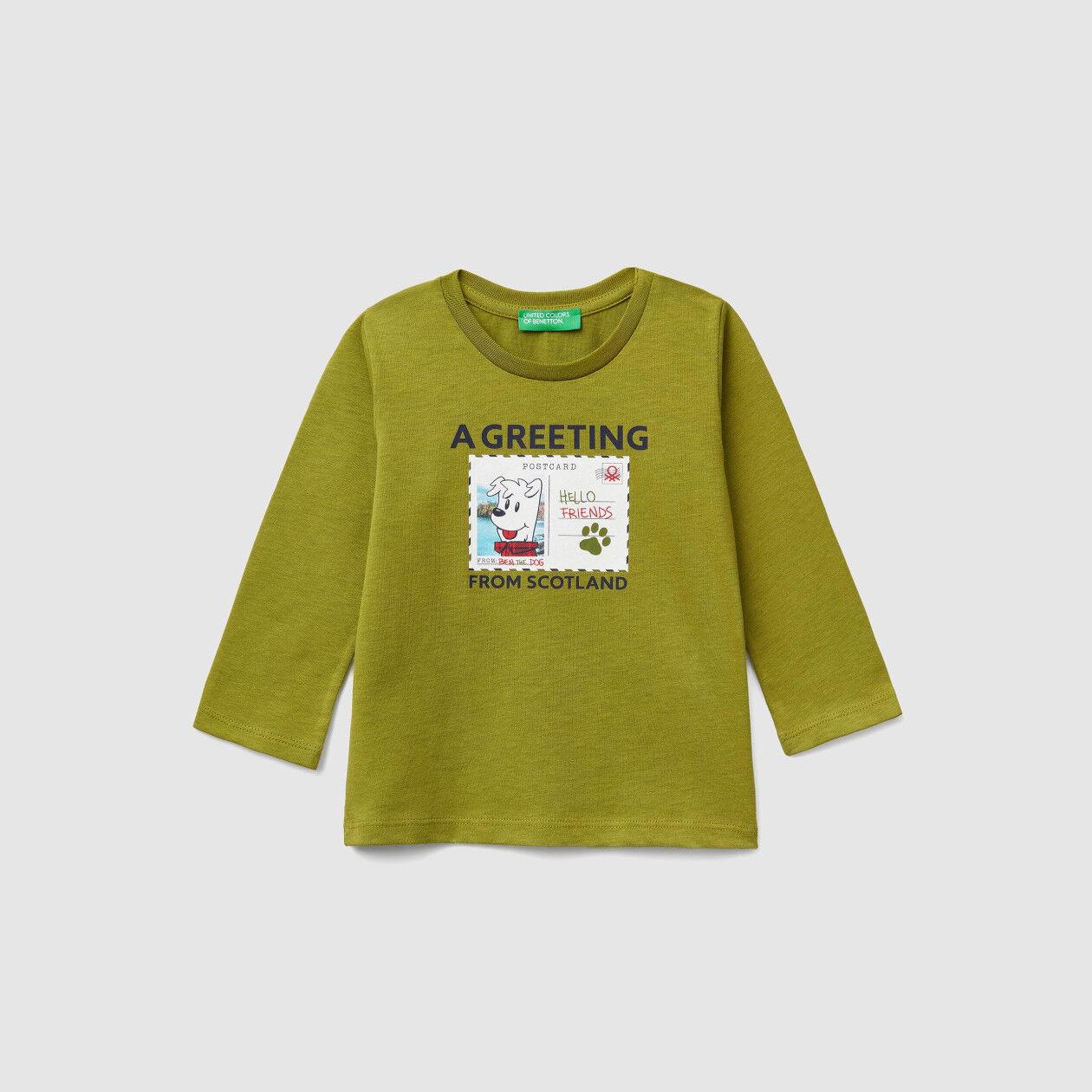 Camiseta con estampado de postal