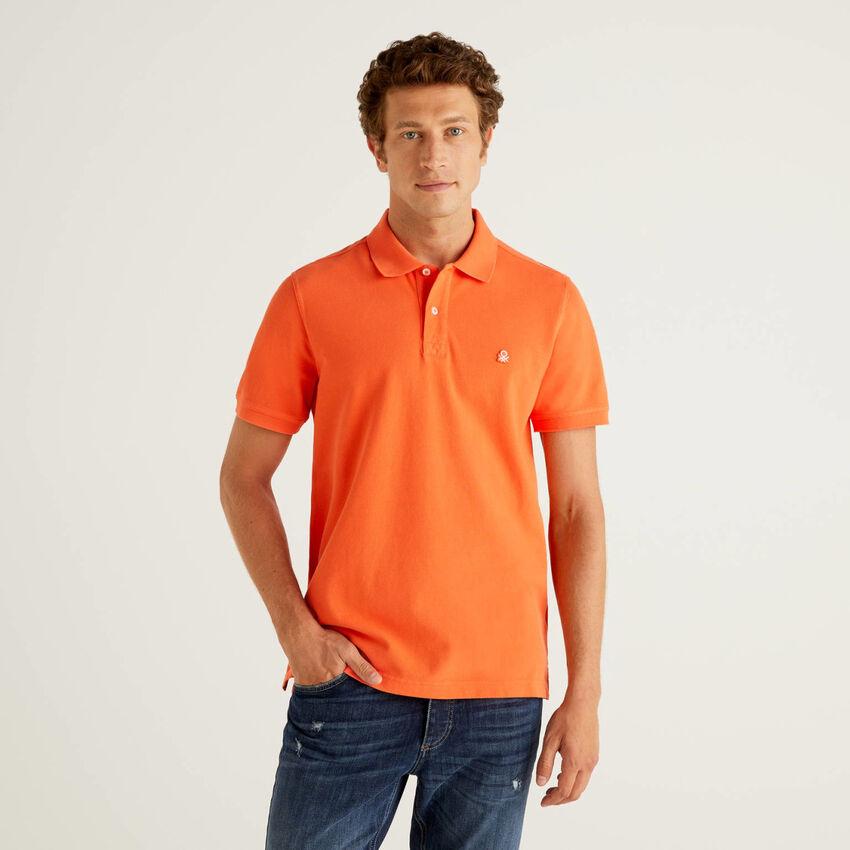 Polo regular fit naranja
