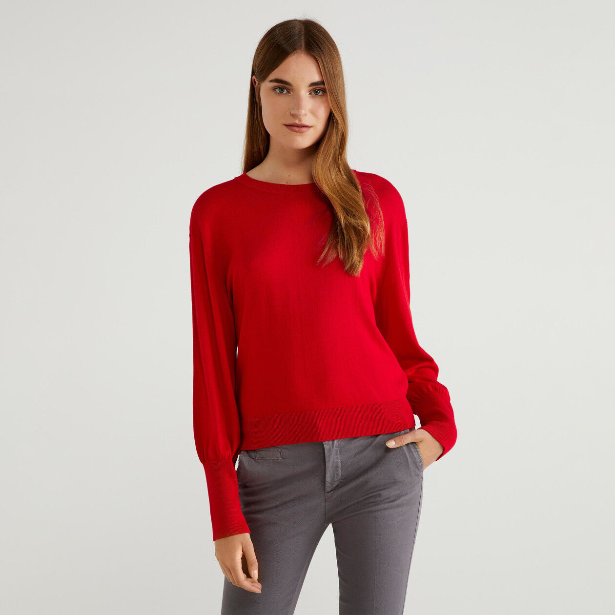Jersey con mangas abullonadas