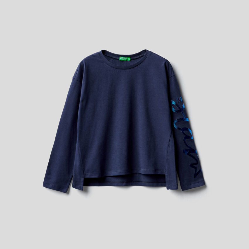Camiseta de manga larga de 100 % algodón