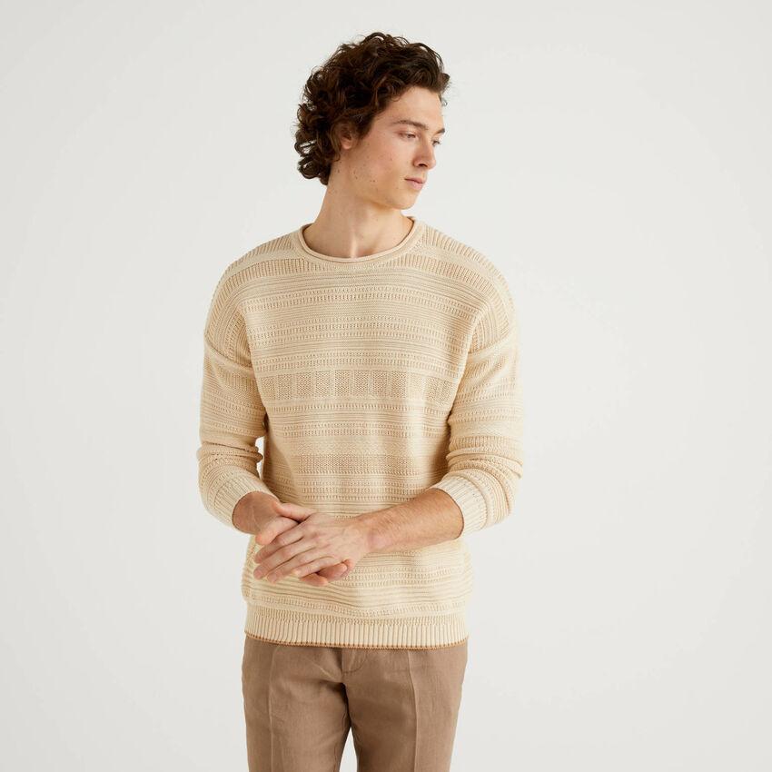 Jersey labrado de 100 % algodón