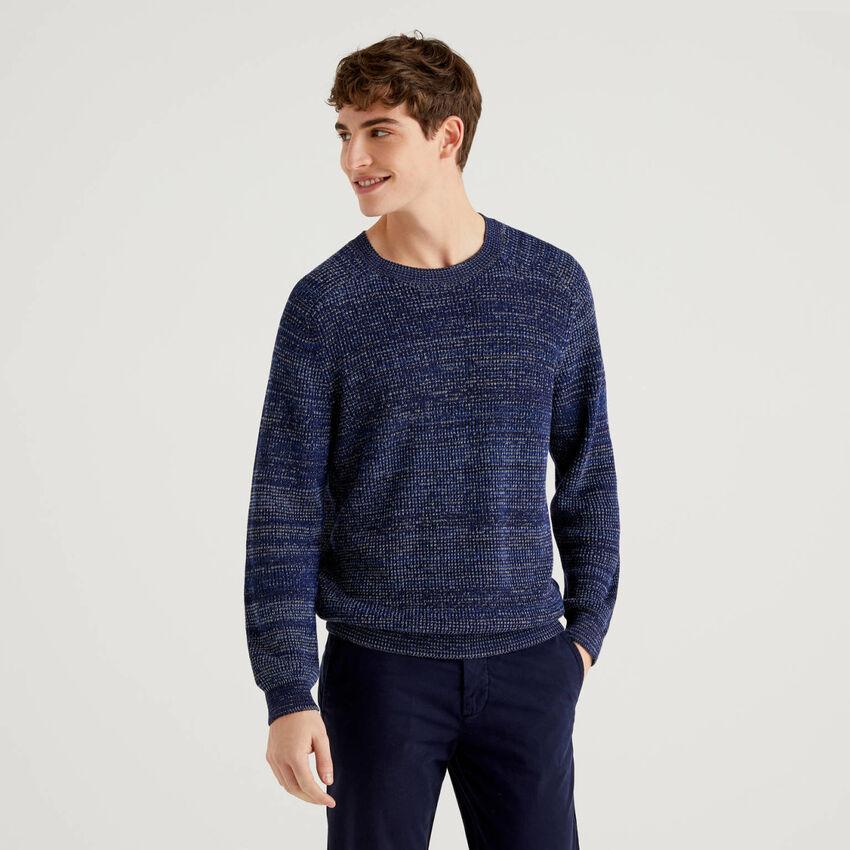 Jersey de cuello redondo de 100 % algodón
