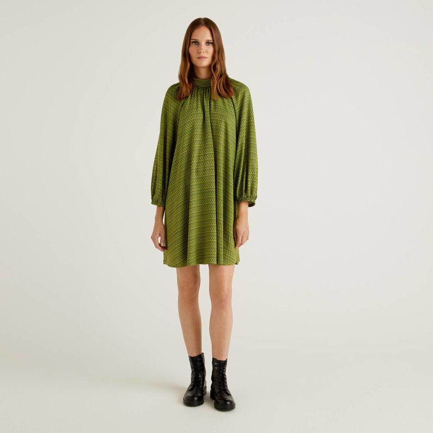 Vestido estampado de viscosa sostenible
