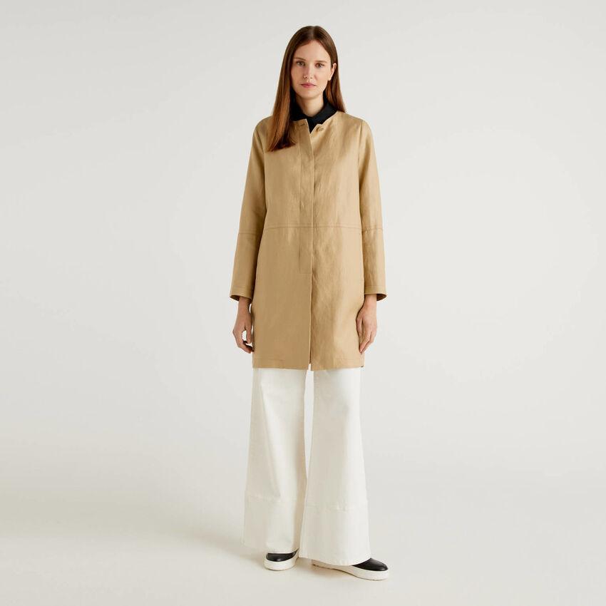 Abrigo de 100% lino