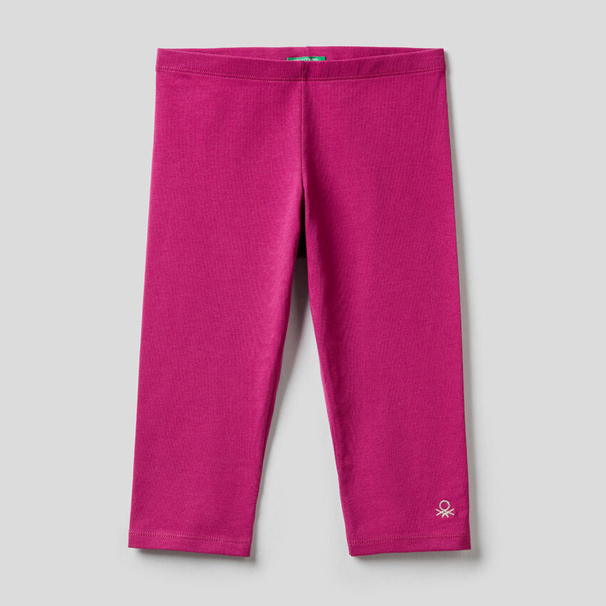 Leggings 3/4 de algodón elástico
