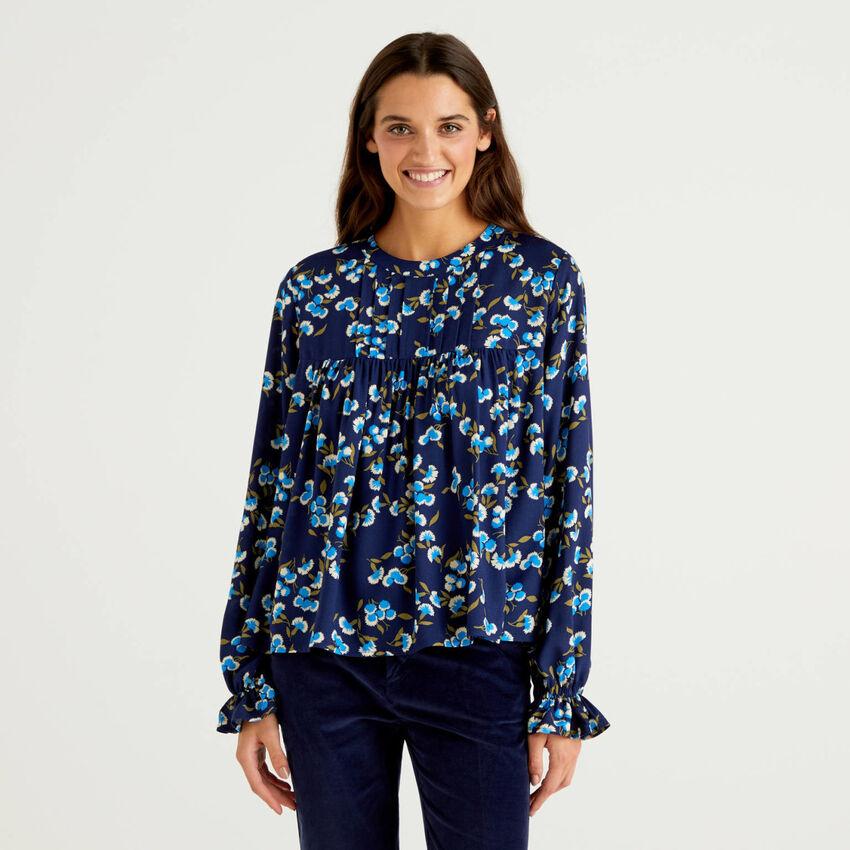 Blusa estampada de viscosa sostenible