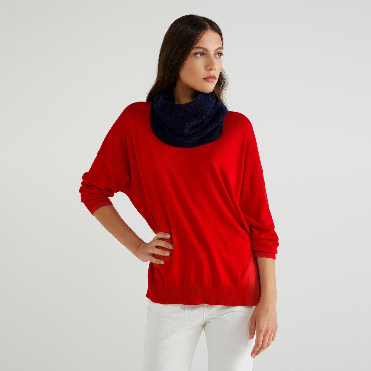 Cuello de lana mixta