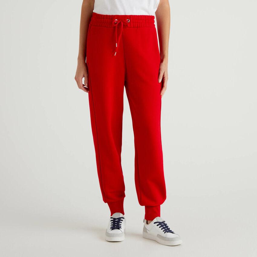 Pantalones deportivos de felpa de algodón 100%