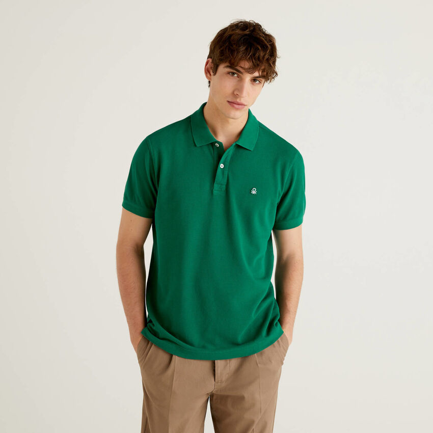 Polo regular fit verde oscuro