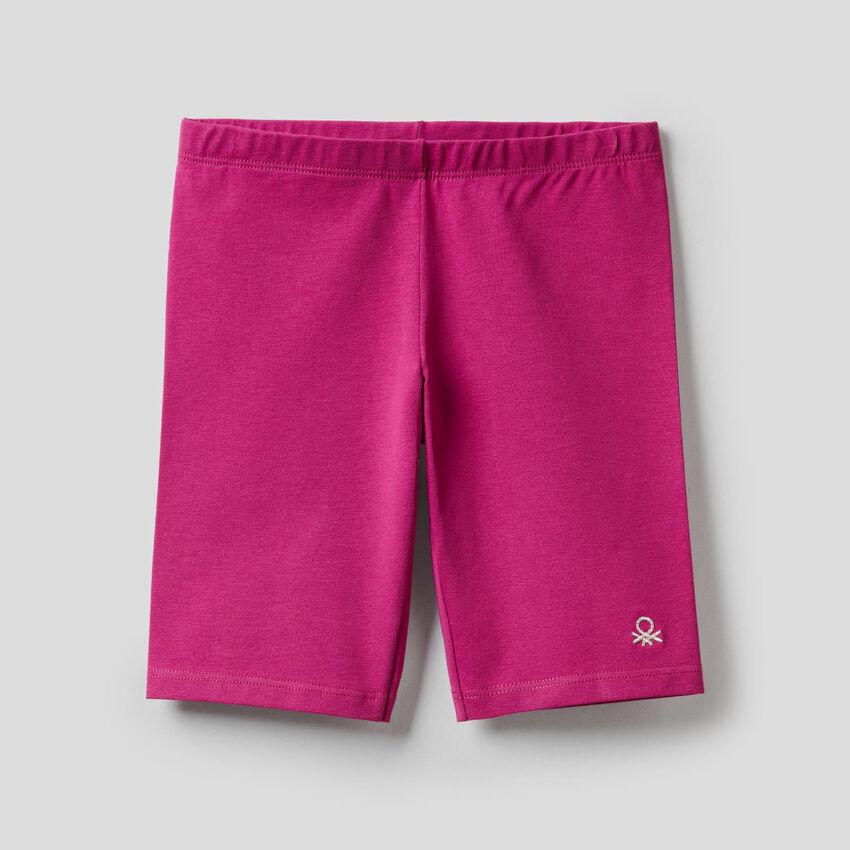 Pantalón corto de algodón elástico