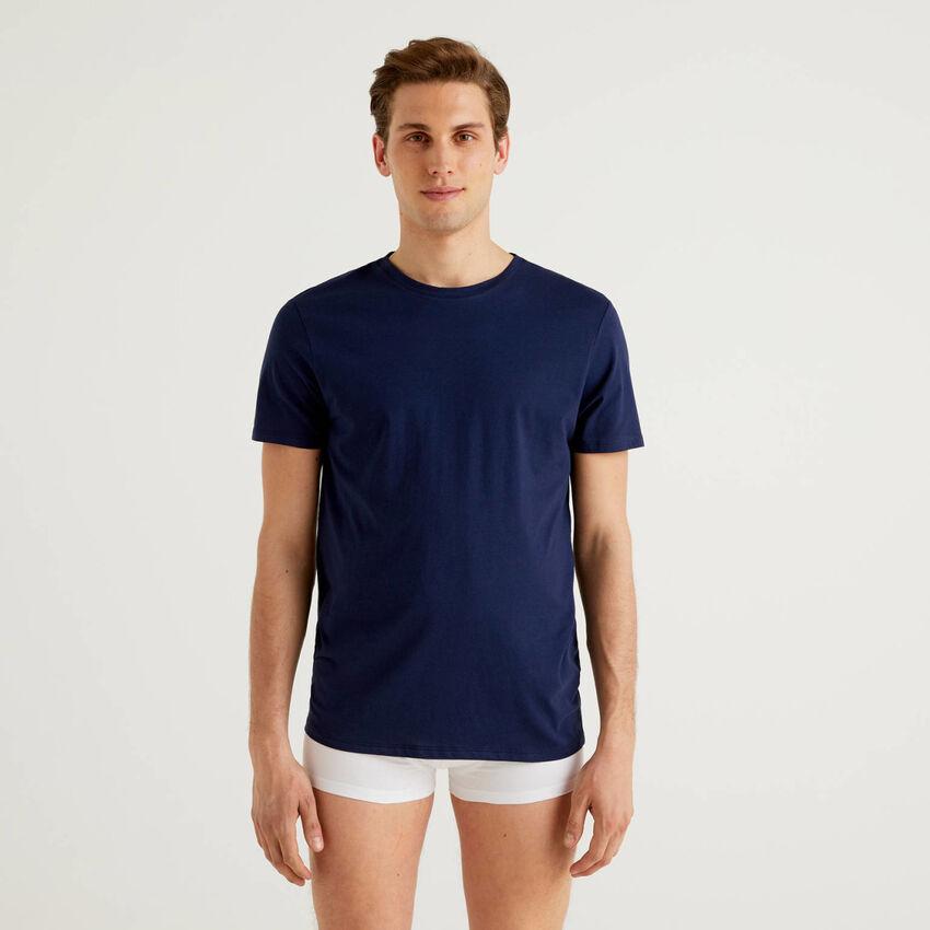 Camiseta de algodón de fibra larga