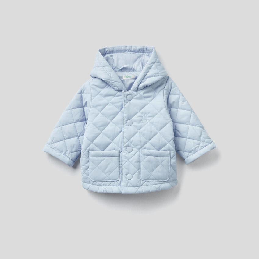 Abrigo acolchado con capucha