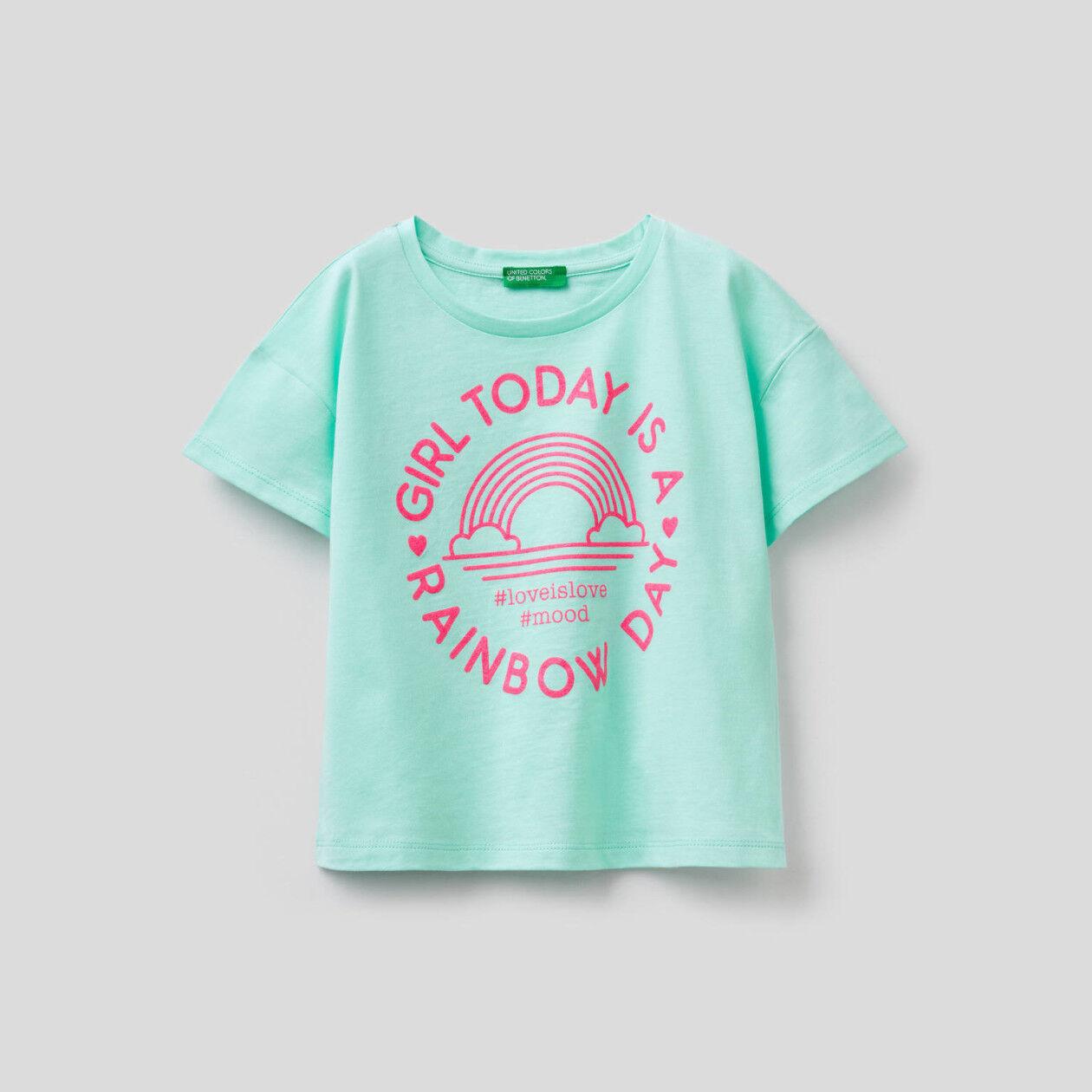 Camiseta boxy de algodón puro