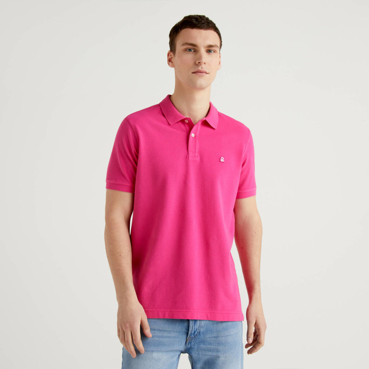 Polo regular fit fucsia