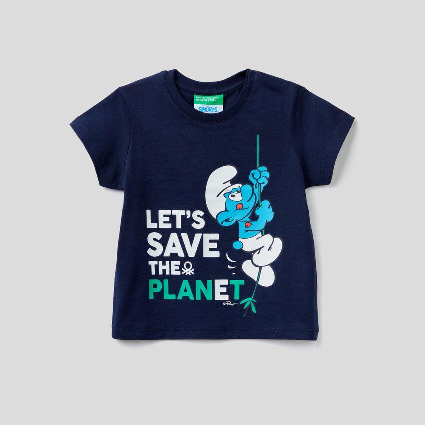 Camiseta con estampado de pitufos